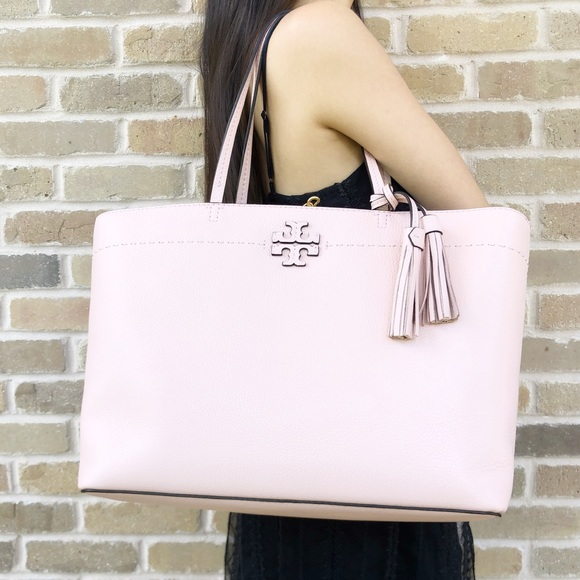 283f69d12fc3 Tory Burch mcgraw Large Tote pink